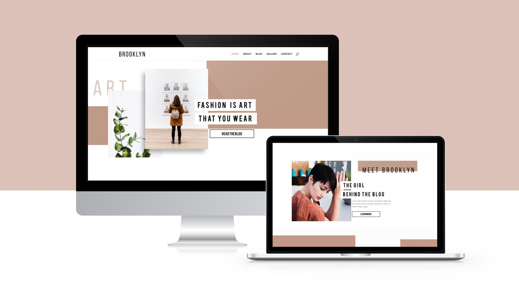 Brooklyn Divi Child Theme Mockup