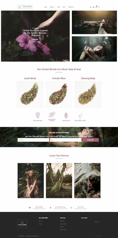 Omaya Herbs Website mockup